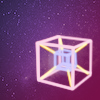 galaxy with hypercube