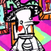 a cropped panel of harvey dent clutching at the fresh acid burns on his face