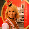 olive snook from pushing daisies with a tiny hat shaped like a pie