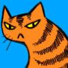 Talvizi's icon: a drawn orange cat with a grumpy expression.
