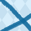 Blue check background with two blue crossing lines