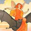 fairy riding a bat
