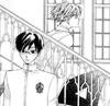 Kyoya and Tamaki in middleschool from Ouran highschool host clubs Manga by Bisco Hatori