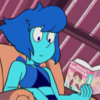 Picture of Lapis Lazuli, from Steven Universe, reading a book