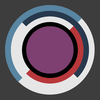 A red, purple, and blue set of circles.