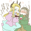 His highness King Thranduil trying to get Lord Elrond drunk!