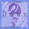 a purple dragon, text: 'dragon of winter nights'