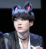 Yoongi with cat ears <3