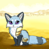 I might have made a wrong turn when I went hunting today. (Blue Fox in light armor. On a yellow plain)