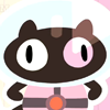 It's Cookie Cat from Steven Universe! A small brown cat in a space suit! (cookie cat hes really really yummy! cookie cat hes good for your tummy!)