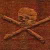 1790s Pirate Flag on display at the Portsmouth Naval Museum in England
