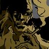 Revolver Ocelot smoking a cigarette