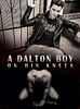 """The cover art for my story """"A Dalton Boy on His Knees"""" - an image of Kurt in leather and piercings set above a naked and bowing Sebastian Smythe"""