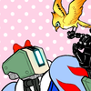 Icon of Bastion dressed as Snow White with Ganymede