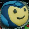 A cute Megaman cupcake.