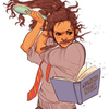 fan art of POC Hermione by tumblr user batcii