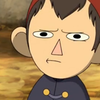 image of wirt from over the garden wall frowning