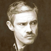 John Watson as a Victorian gentleman, possessed of unexpectedly fine cheekbones.