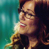 Laura Roslin smiling