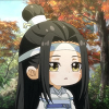 An image of a chibi animated character looking slightly surprised. It's Lan Wangji from Mo Dao Zu Shi Q