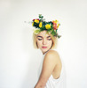 girl with a flower crown