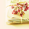 letters with flowers