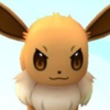 Eevee with a >:3 face