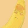 Banana with the face and hair of Kumon Kaito