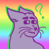 purple cat with lovli gay background