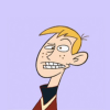 Ron Stoppable with eyes crossed, grimacing.