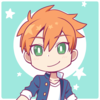A picrew icon showing a person with red hair against a teal background.