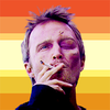 Jesse Pinkman with a butch flag behind him.