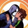 Rook Blonko kissing Ben Tennyson