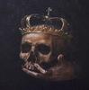 a skull with a crown//un cráneo con una corona