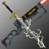 Selion's AO3 logo - lightning sword crossed with a laser rifle