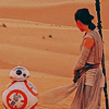 BB-8 and Rey on Jakku