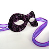 Purple mask with black lace