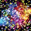 glittery stars on a black background