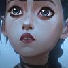 drawn yellow emoji, eyes staring downward, blushed cheeks, small smile