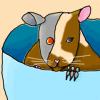 A cyborg mouse in a teacup