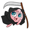 Jigglypuff as the Grim Reaper