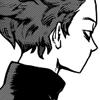 A screengrab of Shinsou Hitoshi from the BNHA manga, 3/4 back facing angle