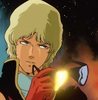 char aznable with cool sunglasses