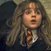 Hermione raising her hand because she knows the answer