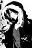 Orihara Izaya black and white fan art