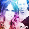 A picture of Shelley Hennig and Ian Bowen from Teen Wolf. The name Jayel is written at the bottom