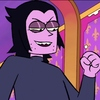 screenshot of professor venomous from the cartoon OK KO. he has a malicious expression, as if he's looking down on someone.