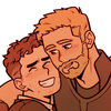 thor and bruce being gay cuties