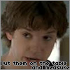 Picture of Zack Addy of Bones, saying 'put them on the table and measure'