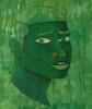 monochromatic green male face